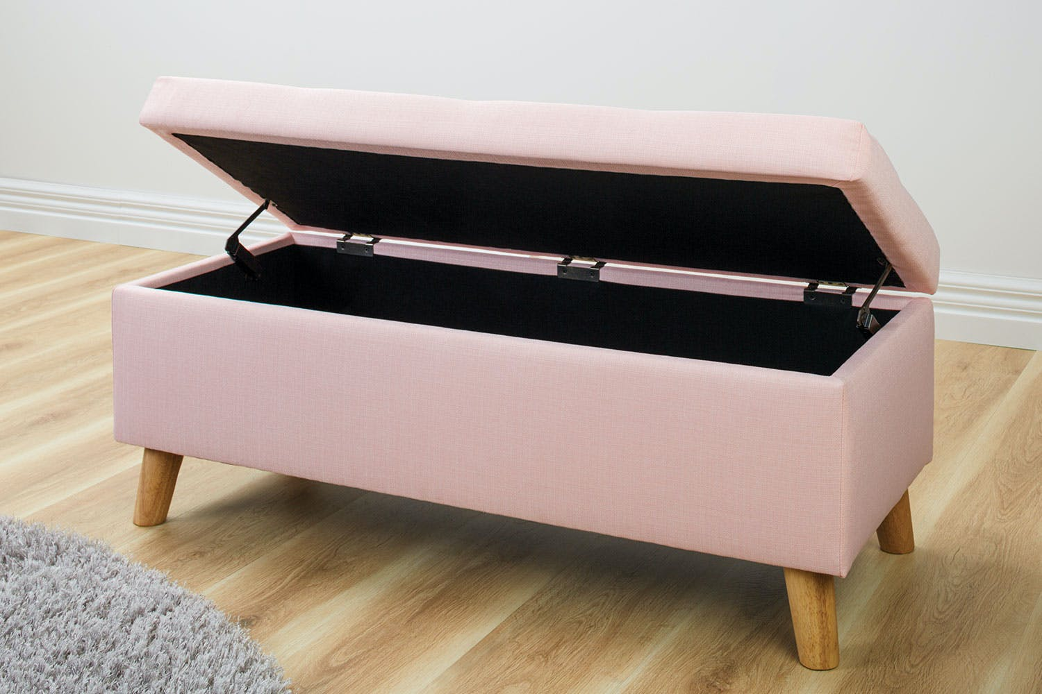 Calypso Pink Ottoman by Nero Furniture