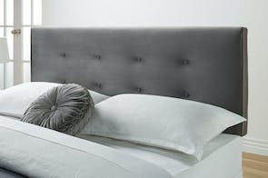 Como Queen Headboard by Nero Furniture - Silver