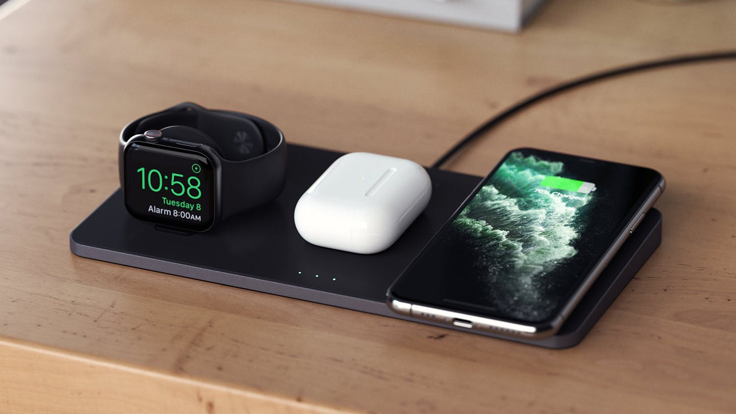Satechi Trio Wireless Charging Pad - Space Grey