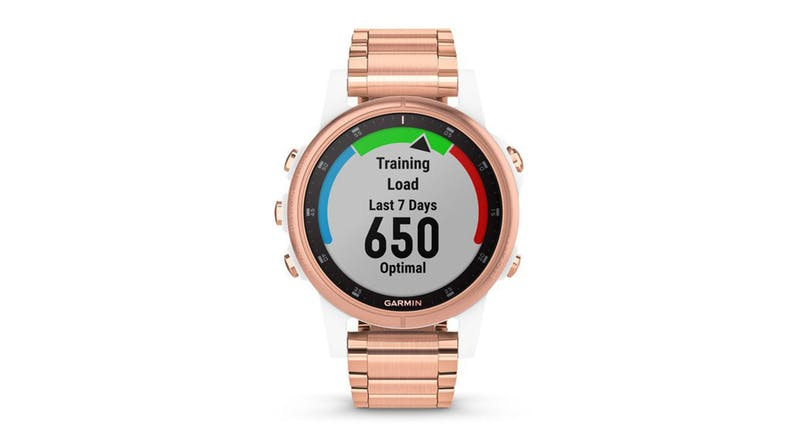 Garmin fenix 5S Plus Sapphire Edition 42mm - White with Rose Goldtone Metal Band
