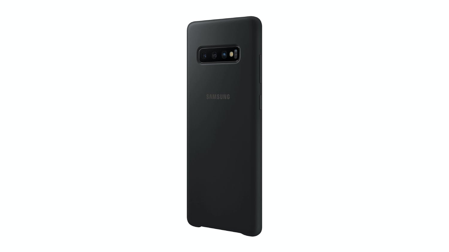 Samsung Galaxy S10+ Silicone Cover Case in Black