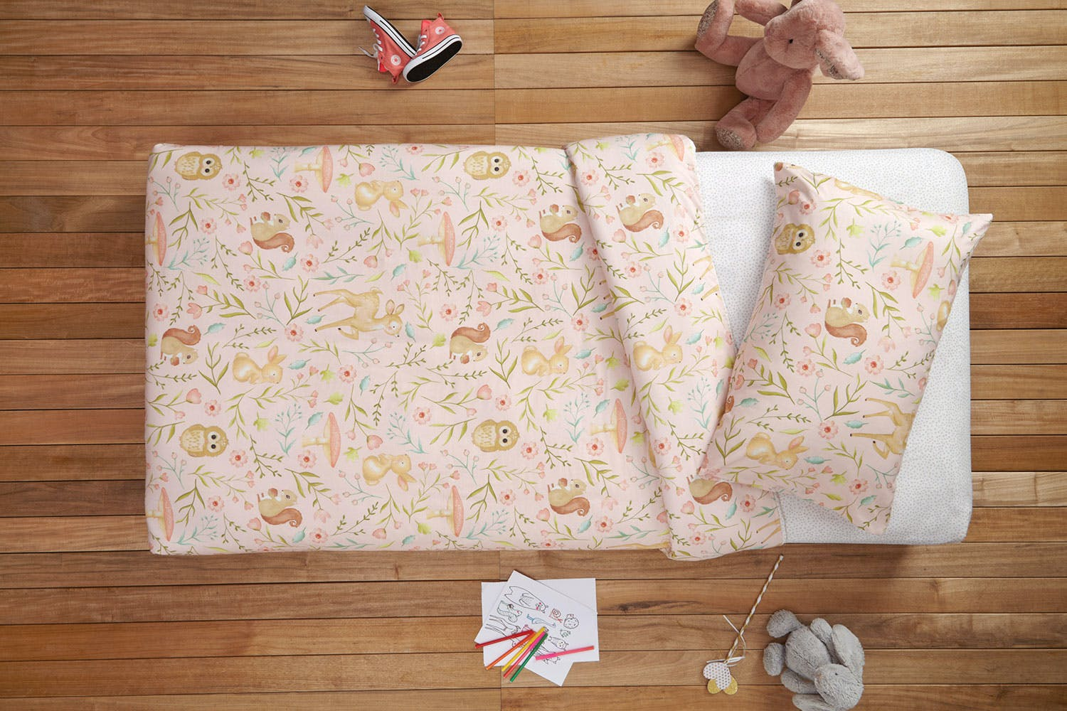 Woodland Friends Duvet Cover Set by Bambury