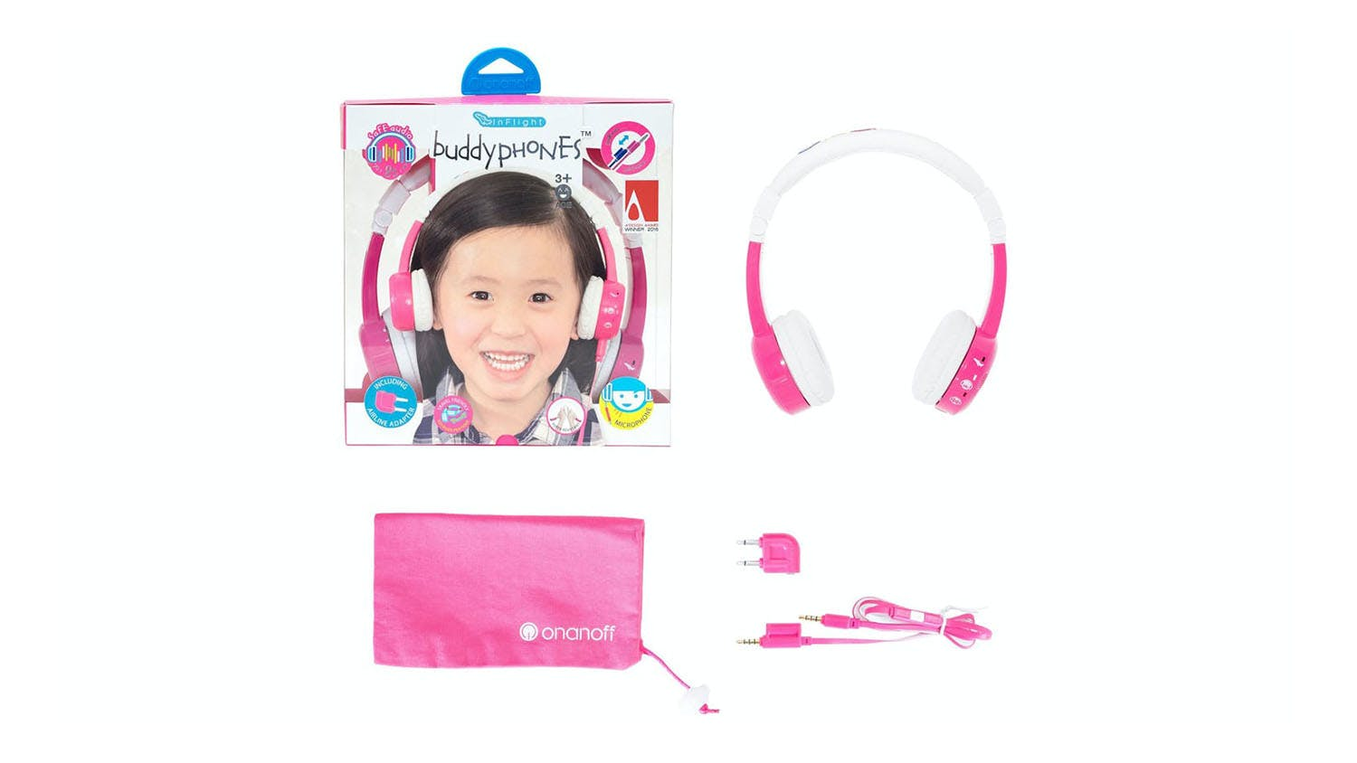 BuddyPhones InFlight Kids On-Ear Headphones - Purple