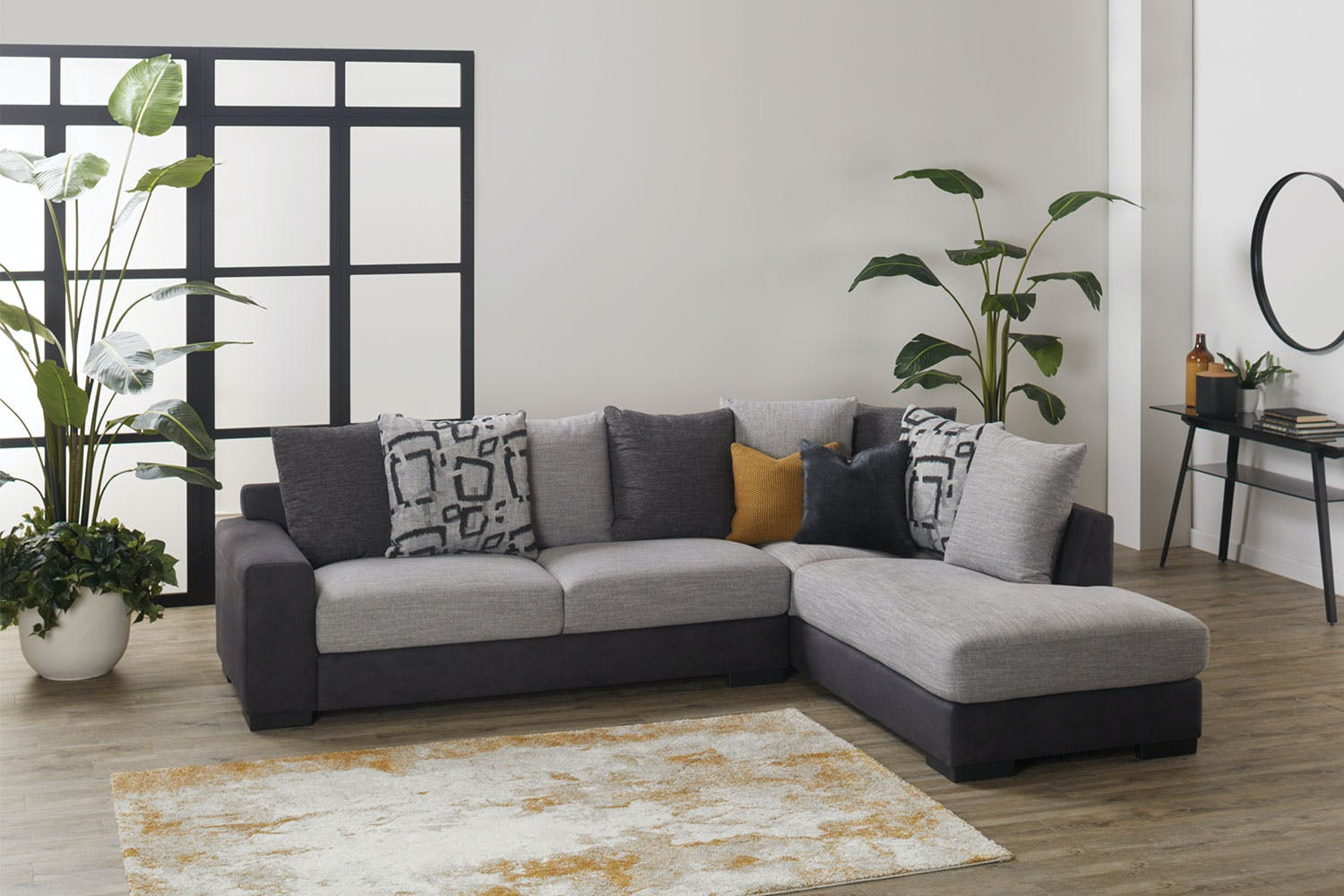 Houston 3 Seater Conner Chaise Sofa | Harvey Norman New Zealand