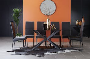 Jana 7 Piece Rectangle Dining Suite by Debonaire Furniture
