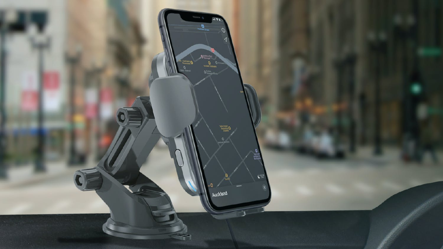 Moyork WATT 15W Qi Wireless Charging Car Mount - Raven Black