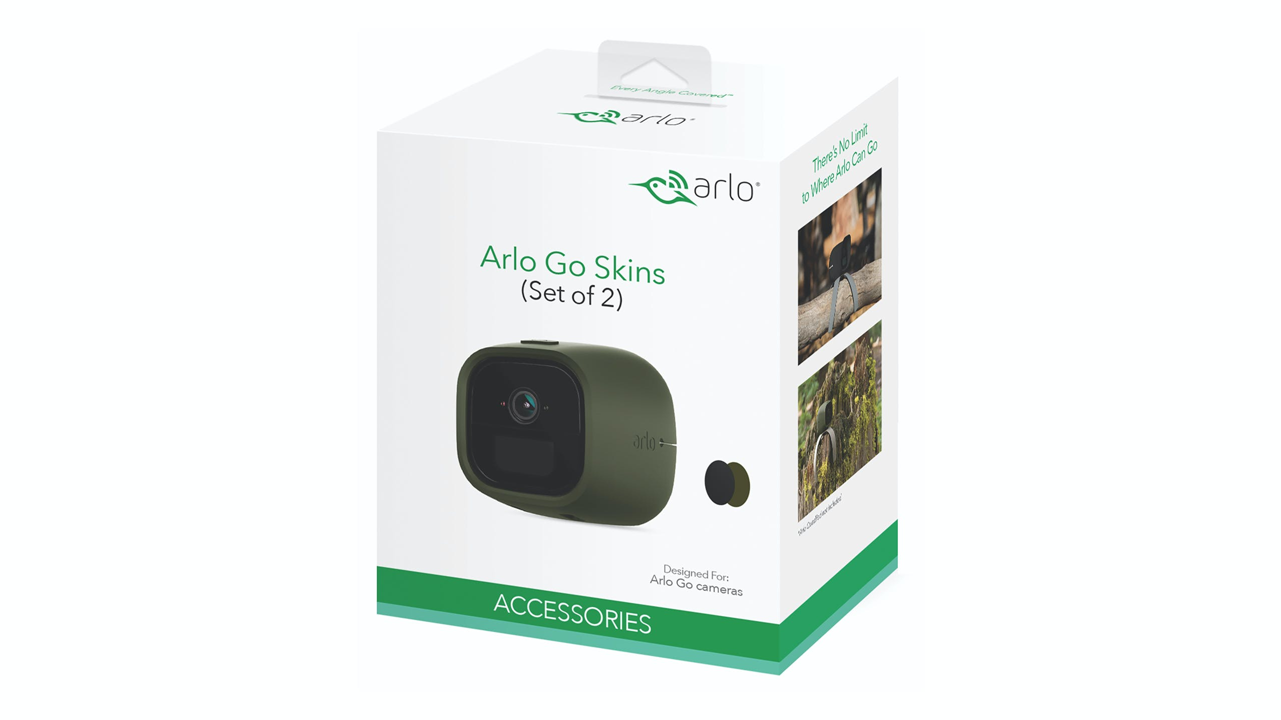 Arlo Go Replaceable Silicone Skins - Black/Green