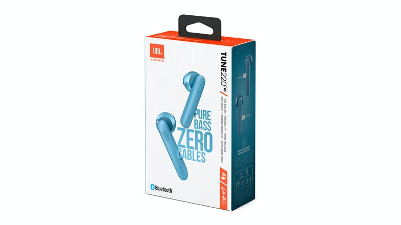 JBL Tune 220TWS Wireless In-Ear Headphones - Blue