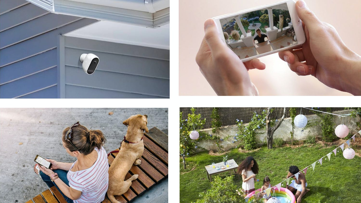 Swann SWIFI 1080p Wire-Free Outdoor Security Camera White - 4 Pack