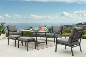 Sapphire 6 Piece Outdoor Lounge Setting