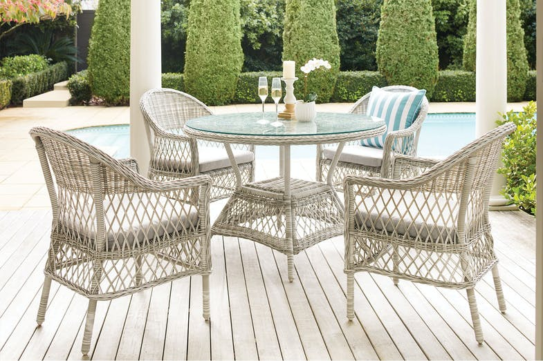 Pearl 5 Piece Outdoor Dining Setting