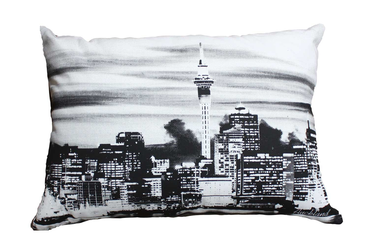 Auckland Scene Cushion  by Mulberi