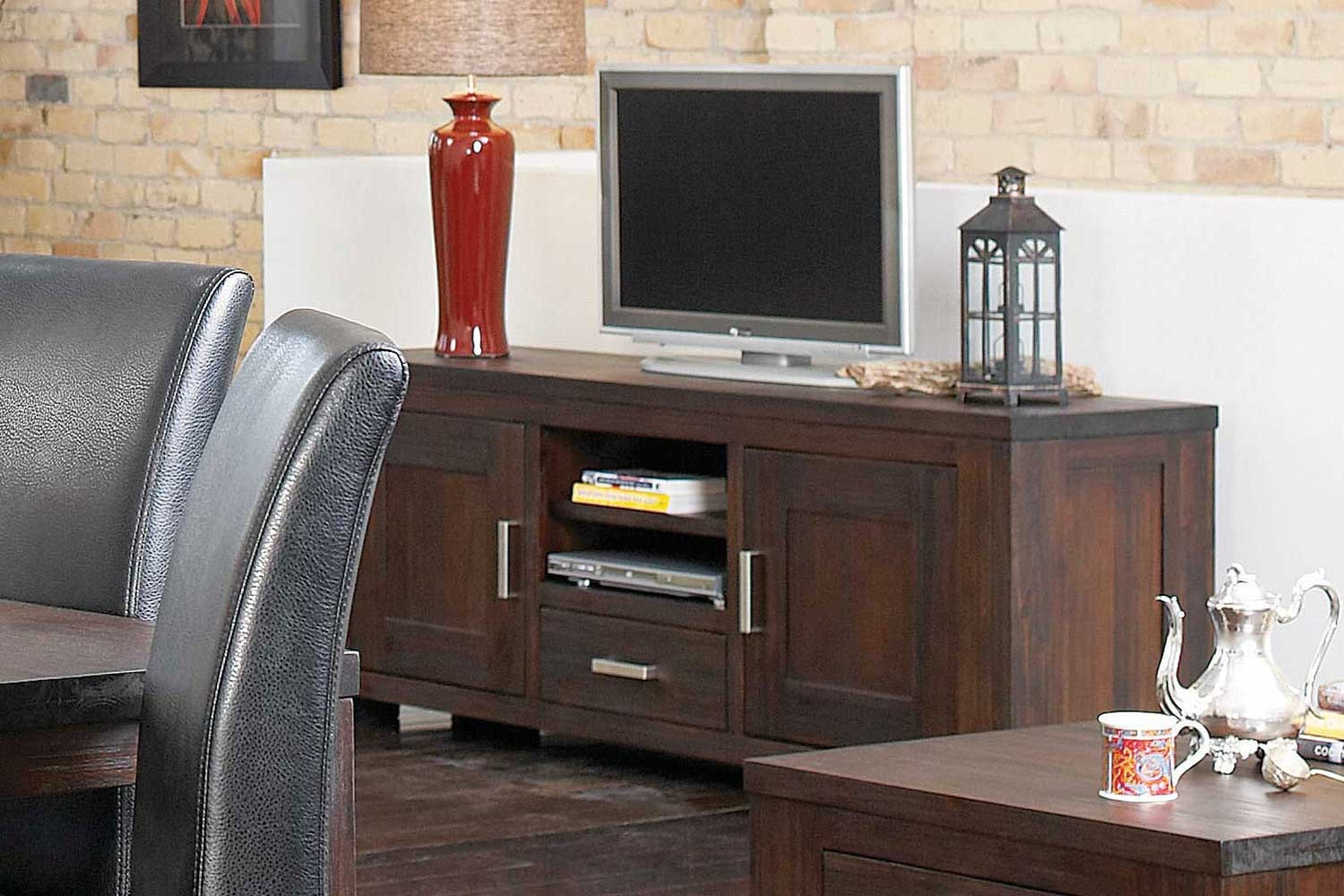 Rustic Heirloom Small Entertainment Unit by John Young Furniture