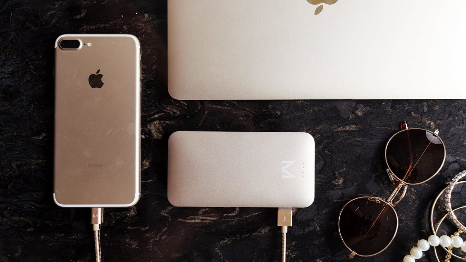 Moyork Lumo 5,000mAh Power Bank - Dubai Gold