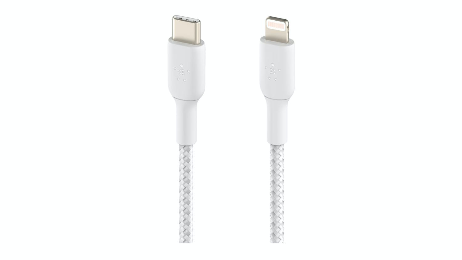 Belkin Boost Up Charge USB-C to Lightning Braided Cable 1m - White
