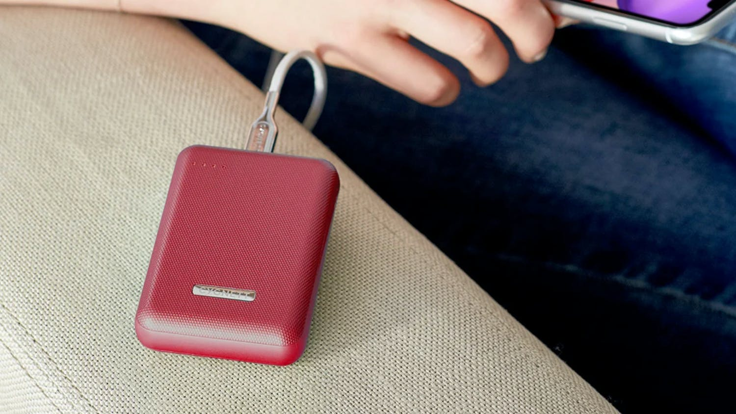 Cygnett ChargeUp Reserve 10,000mAh 18W Power Bank - Red