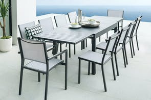 Oaklyn 11 Piece Outdoor Extension Dining Setting