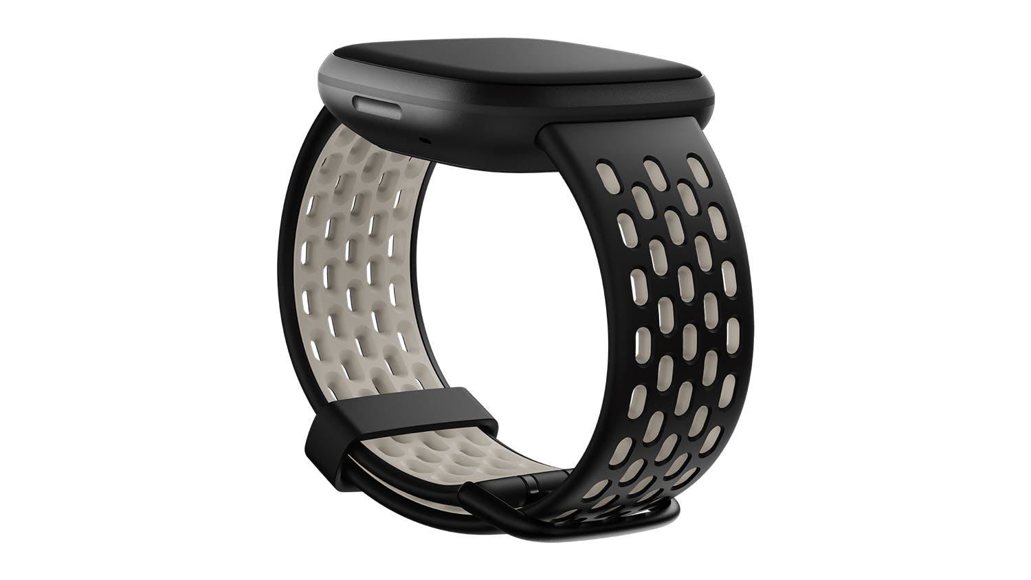 Fitbit Sport Band for Versa 3/Sense - Black/Lunar White (Small)
