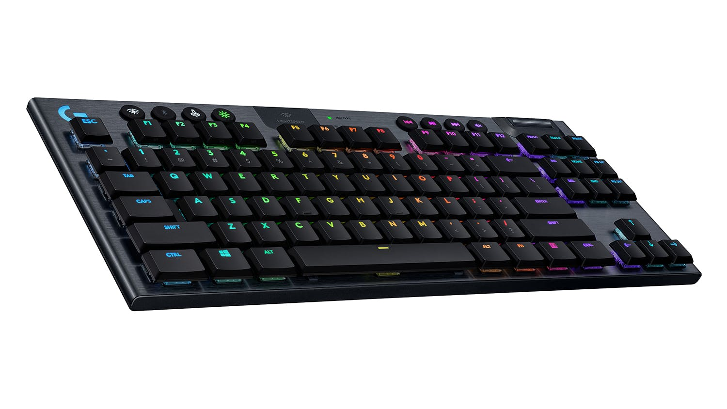 Logitech G915 TKL LIGHTSPEED Wireless RGB Mechanical Gaming Keyboard - Clicky