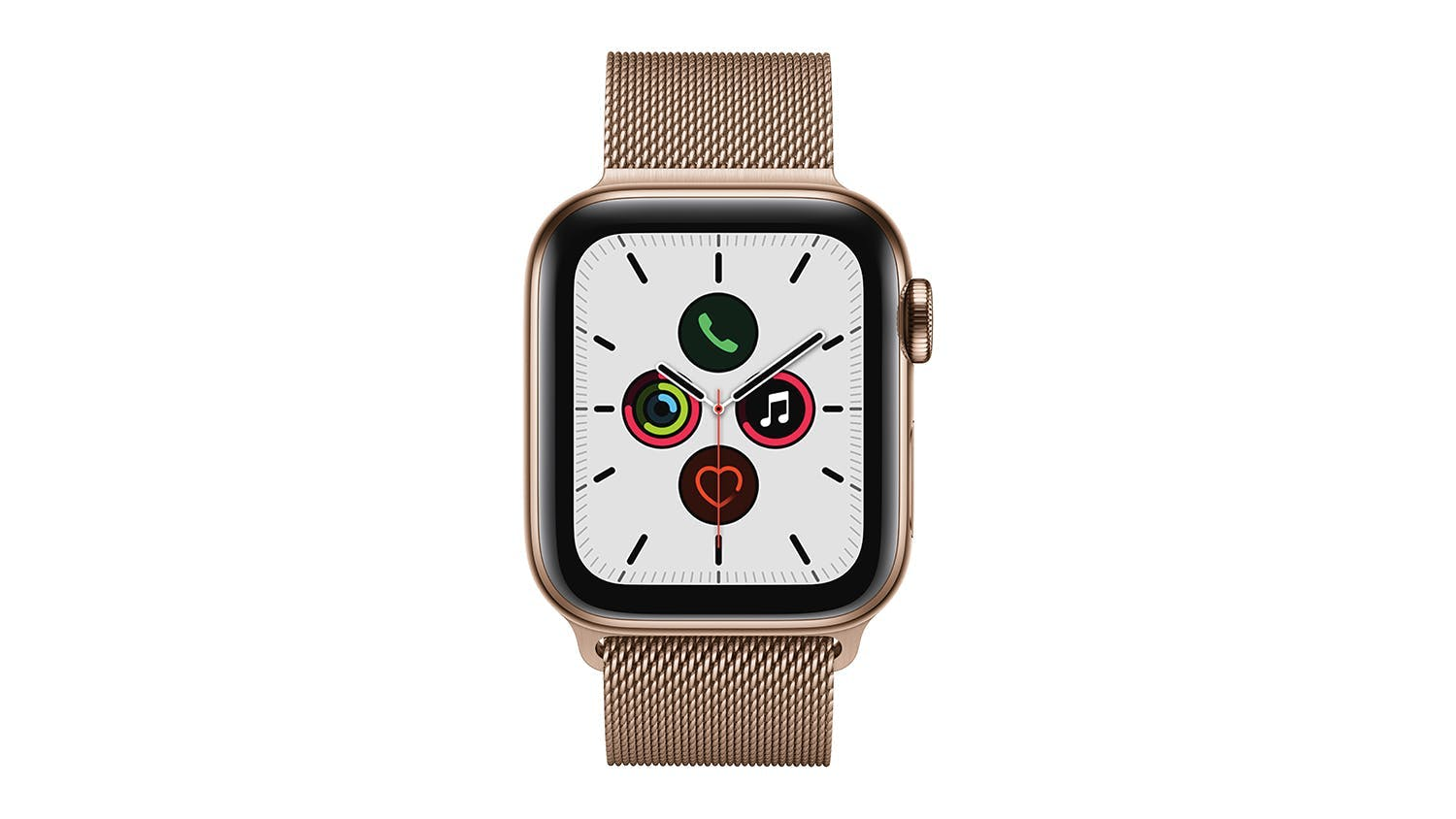 Apple Watch Series 5 (GPS+Cellular) 40mm Gold Stainless Steel + Gold Milanese Loop