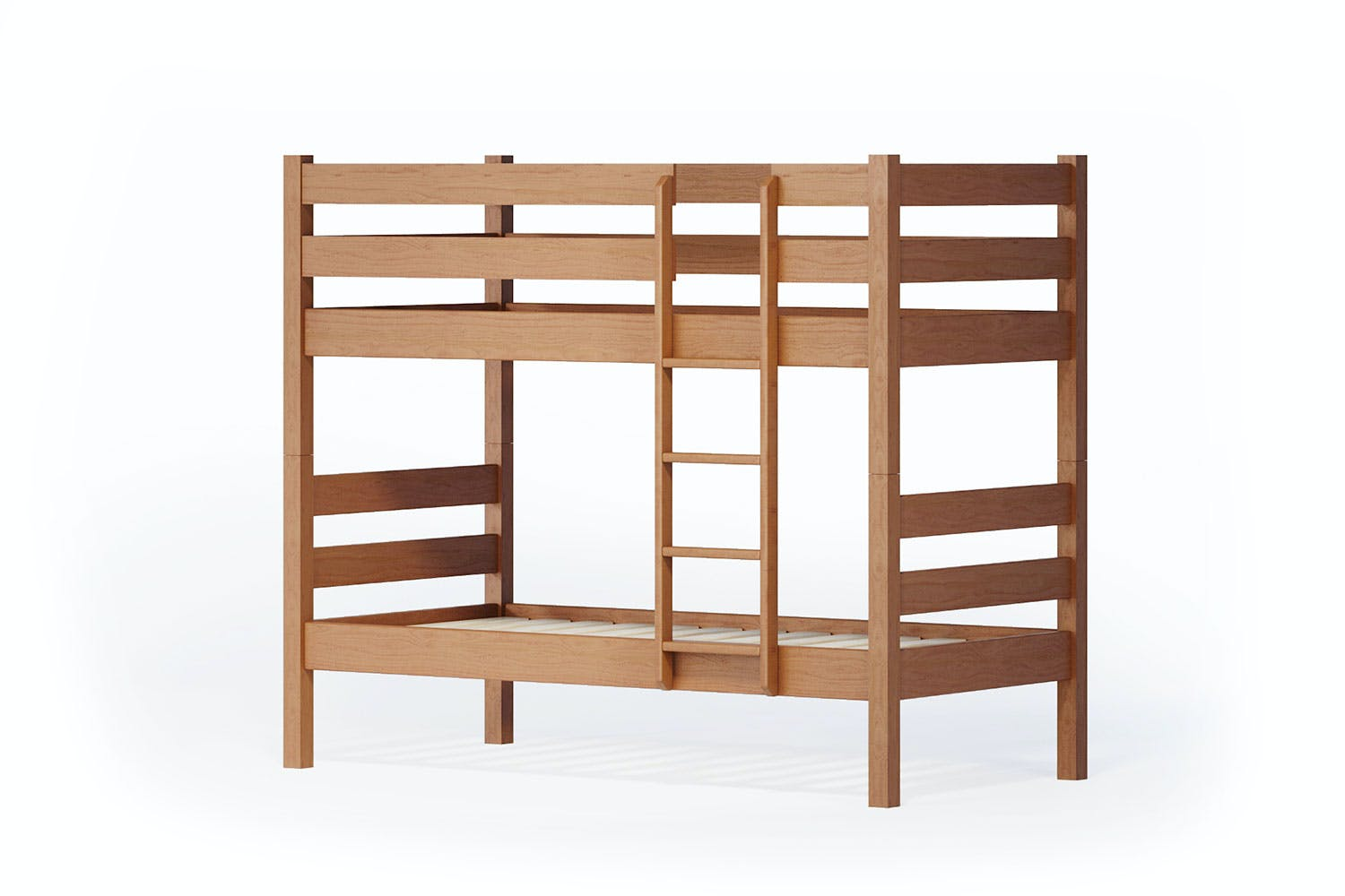 Noah Single Bunk Bed Frame by Coastwood Furniture - Rimu
