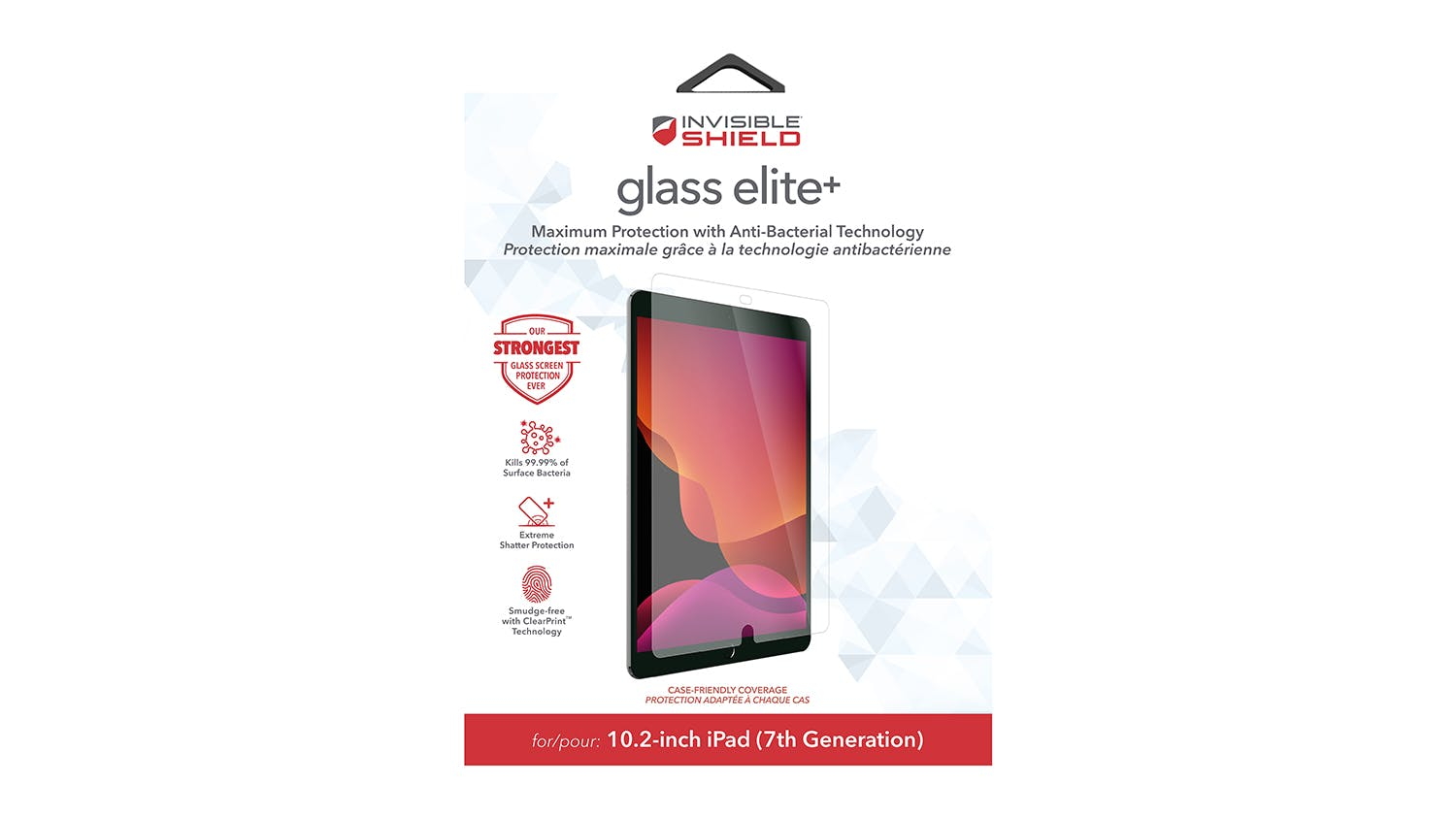 "Zagg InvisibleShield GlassElite+ Screen Protector for iPad 10.2""/10.5"""