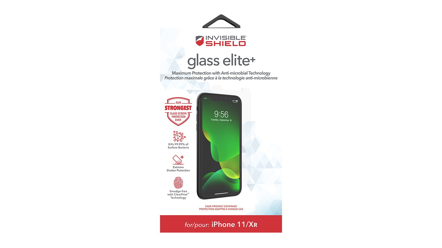 Zagg InvisibleShield GlassElite+ for iPhone XR/11