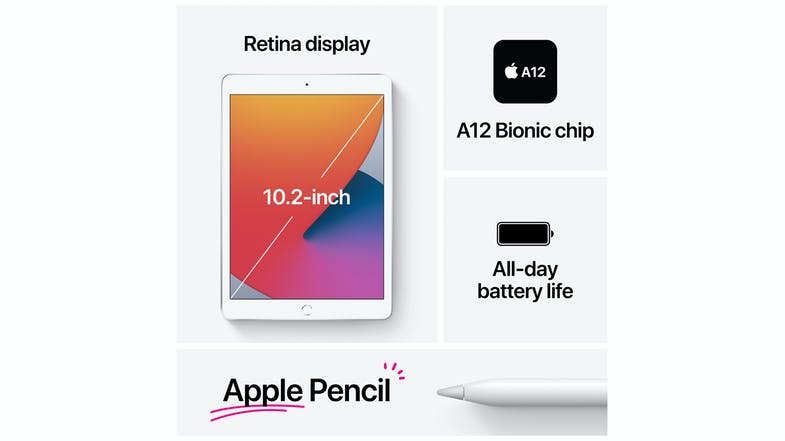"iPad 10.2"" Wi-Fi 128GB (2020) - Silver"