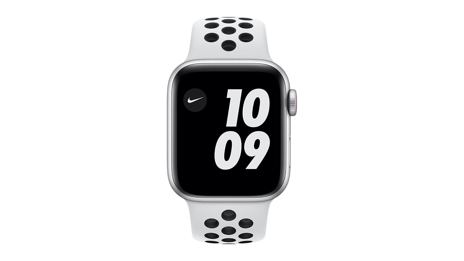 Apple Watch Nike SE (GPS+Cellular) 44mm Silver Aluminium Case with Pure Platinum/Black Nike Sport Band