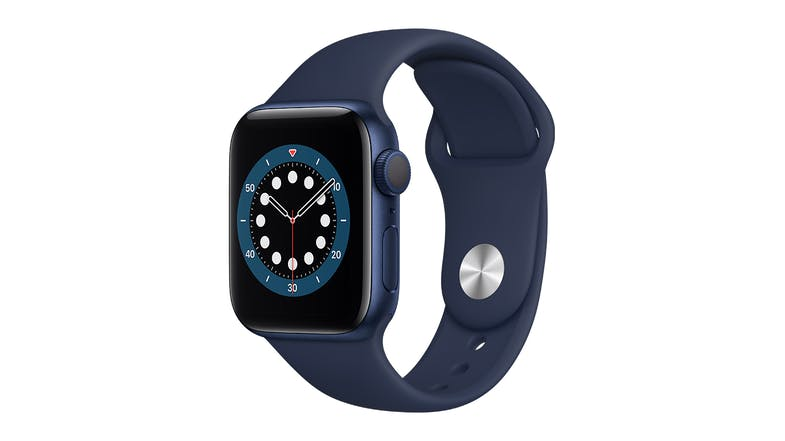 Apple Watch Series 6 (GPS) 40mm Blue Aluminium Case with Deep Navy Sport Band