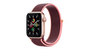 Apple Watch SE (GPS+Cellular) 40mm Gold Aluminium Case with Plum Sport Loop