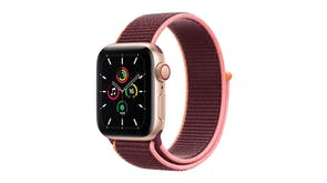 Apple Watch SE (GPS+Cellular) 44mm Gold Aluminium Case with Plum Sport Loop