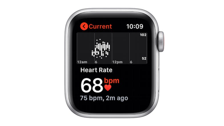 Apple Watch SE (GPS) 40mm Silver Aluminium Case with White Sport Band