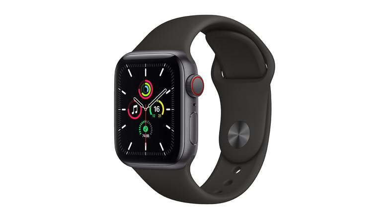 Apple Watch SE (GPS+Cellular) 44mm Space Grey Aluminium Case with Black Sport Band