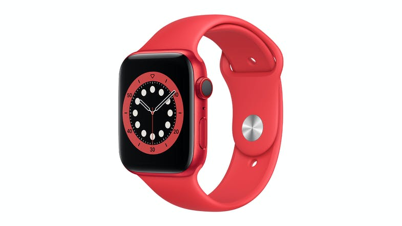 Apple Watch Series 6 (GPS+Cellular) 44mm (PRODUCT)RED Aluminium Case with Red Sport Band