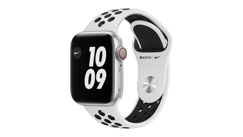 Apple Watch Nike Series 6 (GPS+Cellular) 40mm Silver Aluminium Case with Pure Platinum/Black Nike Sport Band
