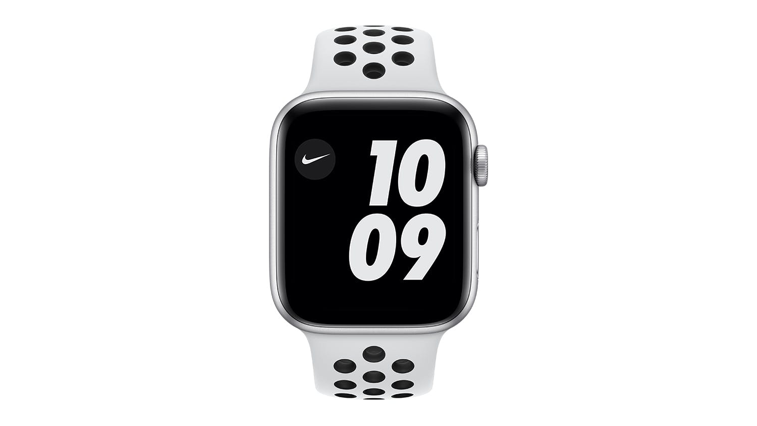Apple Watch Nike Series 6 (GPS+Cellular) 44mm Silver Aluminium Case with Pure Platinum/Black Nike Sport Band