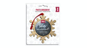 Shot2Go Snowflake Timber Photo Ornament