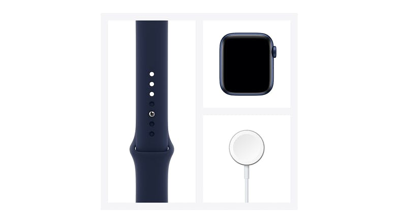 Apple Watch Series 6 (GPS+Cellular) 44mm Blue Aluminium Case with Deep Navy Sport Band