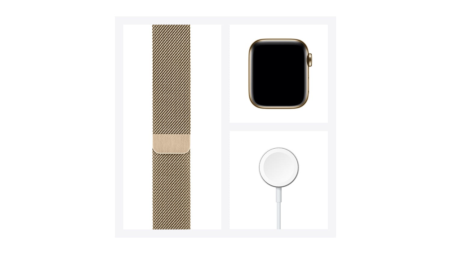 Apple Watch Series 6 (GPS+Cellular) 44mm Gold Stainless Steel Case with Gold Milanese Loop