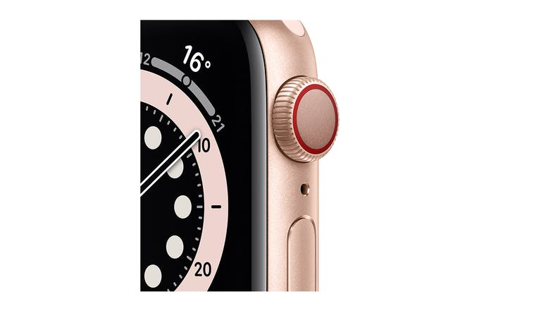 Apple Watch Series 6 (GPS+Cellular) 44mm Gold Aluminium Case with Pink Sand Sport Band