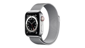 Apple Watch Series 6 (GPS+Cellular) 44mm Silver Stainless Steel Case with Silver Milanese Loop