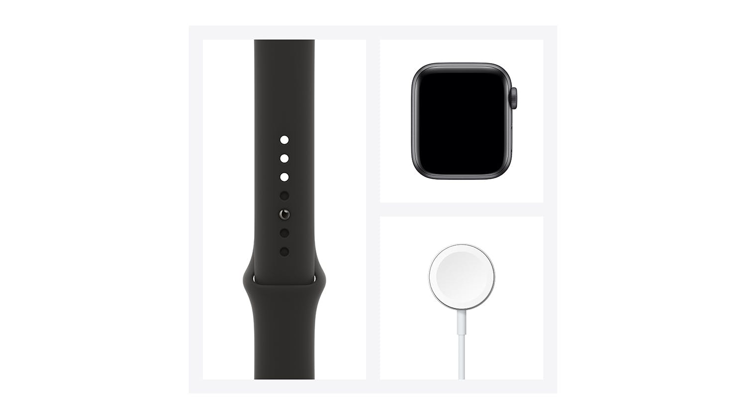 Apple Watch Series 6 (GPS) 44mm Space Grey Aluminium Case with Black Sport Band