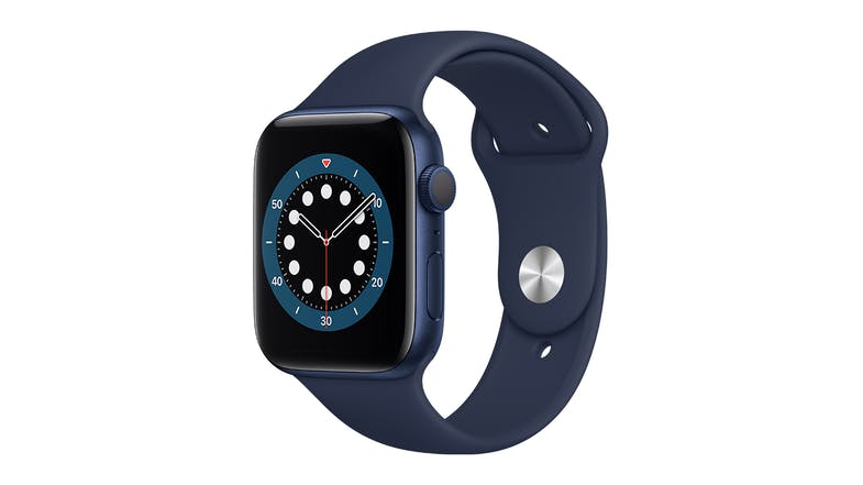 Apple Watch Series 6 (GPS) 44mm Blue Aluminium Case with Deep Navy Sport Band