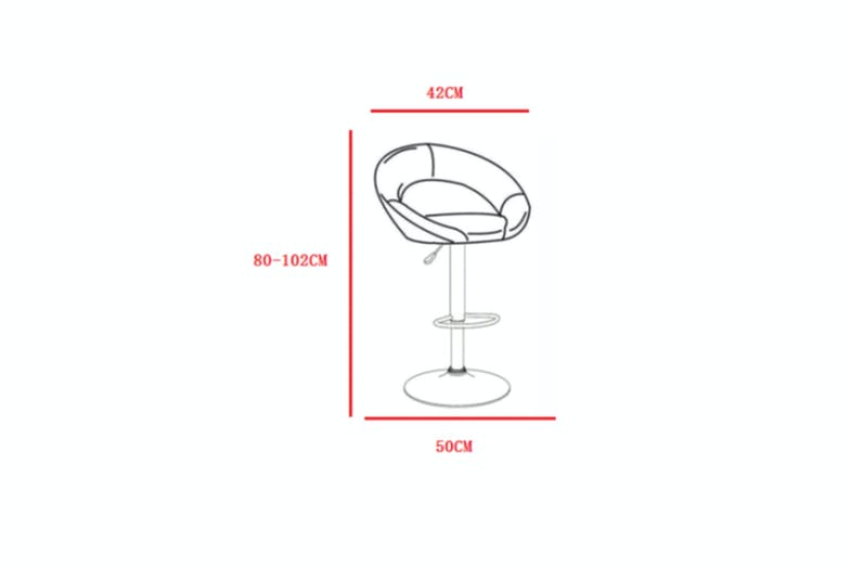 Camaro Bar Stool - Dimensions