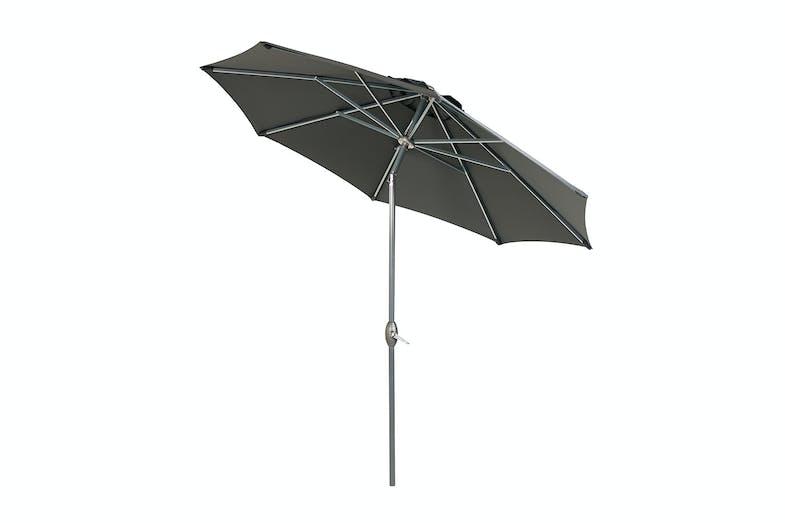 Florence Umbrella Charcoal Angle
