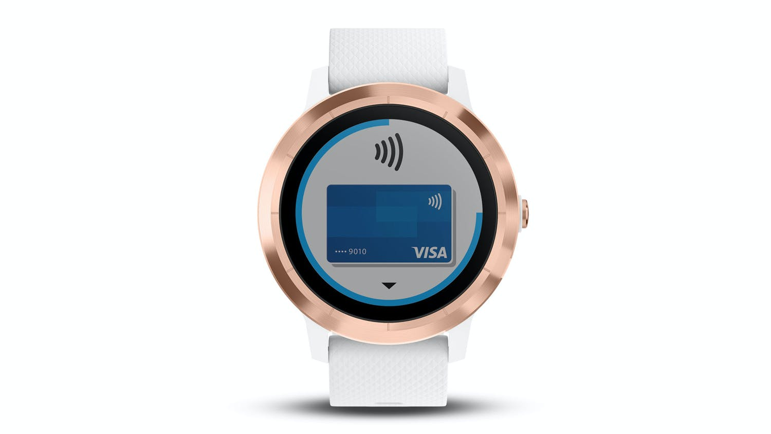Garmin vivoactive 3 Smartwatch - White Silicone/Rose Gold