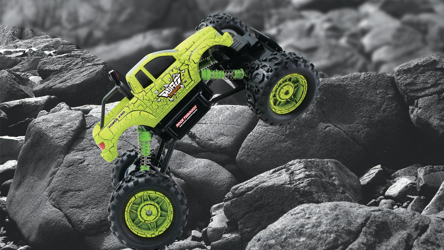 Rock Through RC 4WD Off Road Car - Green