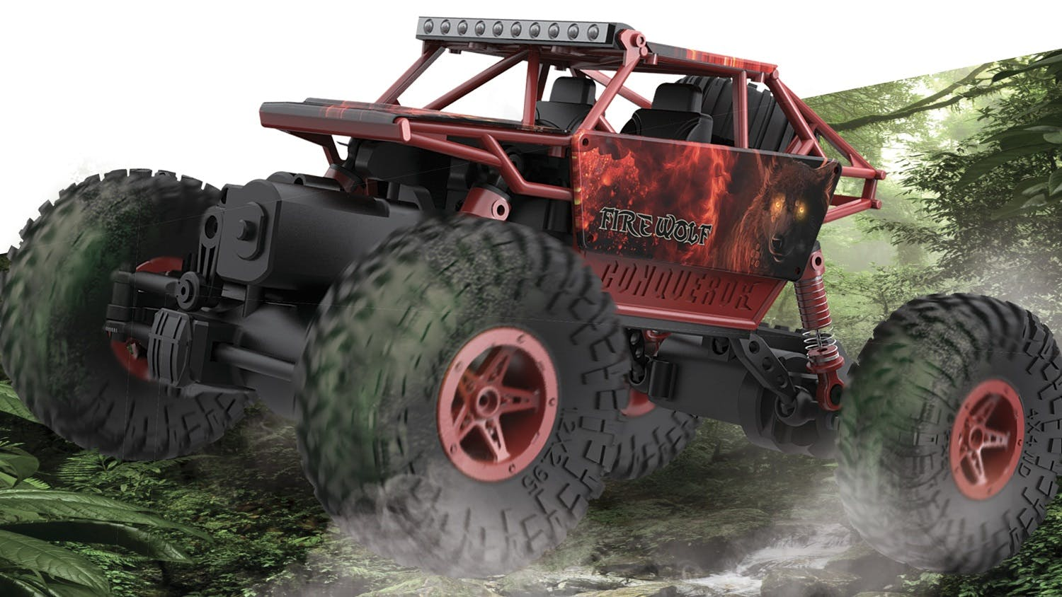 RC Rock Crawler Off Road Truck - Red
