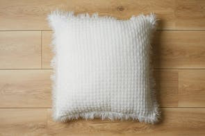 Summer Square Cushion - White